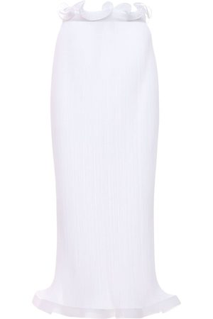 Burberry Plisse Chiffon Midi Skirt