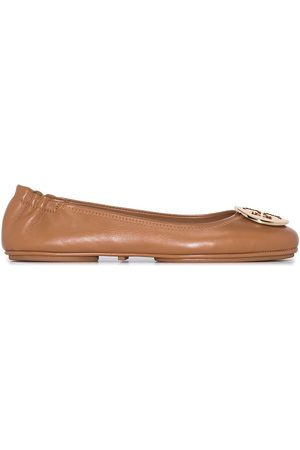 Tory Burch Minnie Travel leather ballerina shoes
