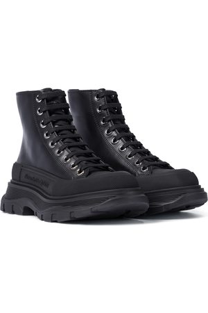 Alexander McQueen Tread Slick leather ankle boots
