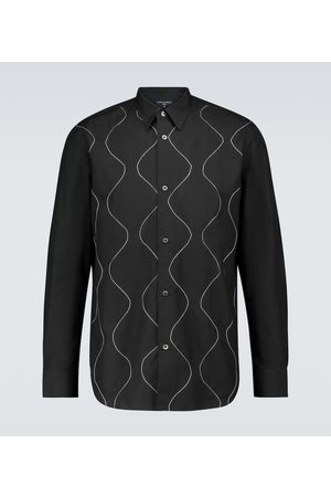 COMME DES GARÇONS HOMME Long-sleeved embroidered shirt