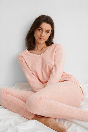 NA-KD Loungewear Cotton Set - Pink
