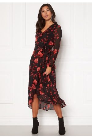 Happy Holly Rianna dress Black / Patterned 50