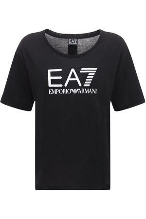 EA7 Logo Cotton T-shirt