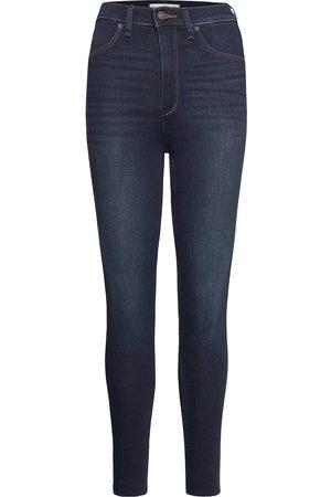 Abercrombie & Fitch Anf Womens Jeans Skinny Farkut Sininen
