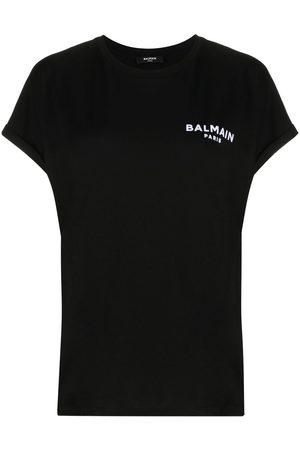 Balmain Naiset T-paidat - Flocked logo T-shirt