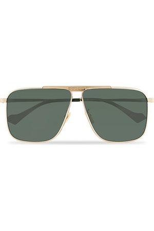 Gucci Miehet Aurinkolasit - GG8040S Sunglasses Gold/Green