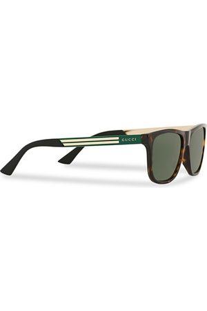 Gucci Miehet Aurinkolasit - GG0687S Sunglasses Havana/Green