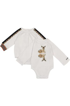 Burberry Set of two cotton bodysuits
