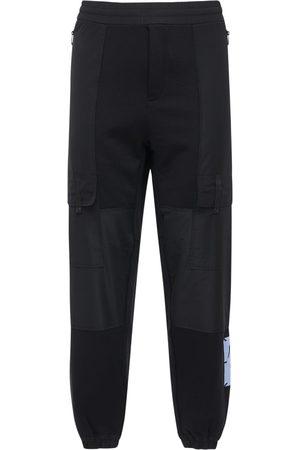 McQ Miehet Collegehousut - Foam Logo Patch Cotton Blend Sweatpants