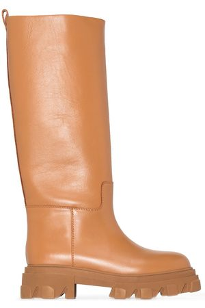 GIA Naiset Ylipolvensaappaat - X Pernille Teisbaek 07 leather knee-high boots