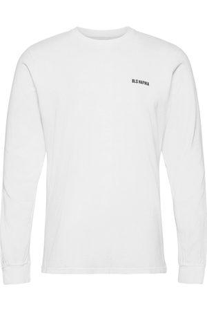 BLS Hafnia Miehet T-paidat - Essential Logo Ls T-Shirt White T-shirts Long-sleeved