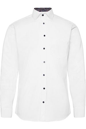 BOSWEEL SHIRTS EST. 1937 Miehet Bisnes - White Structure With Contrast Paita Bisnes