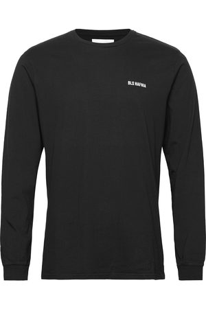 BLS Hafnia Essential Logo Ls T-Shirt Black T-shirts Long-sleeved