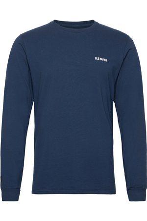 BLS Hafnia Essential Logo Ls T-Shirt Navy T-shirts Long-sleeved