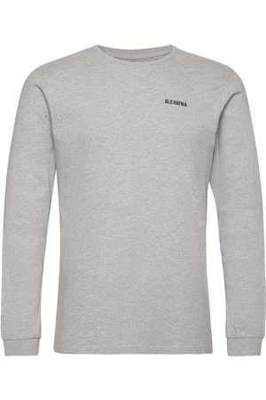 BLS Hafnia Essential Logo Ls T-Shirt Grey T-shirts Long-sleeved