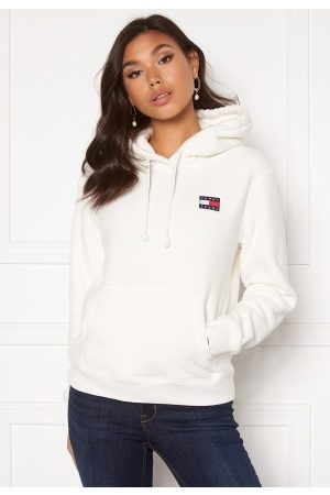 Tommy Hilfiger Badge Polar Flecce Hoodie YAP Snow White L
