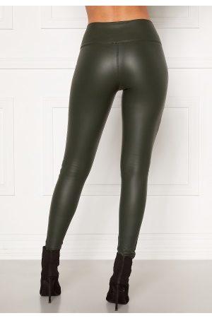 John Zack Faux Leather PU Legging Dark Green M (UK12)
