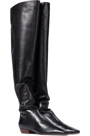 The Row Naiset Ylipolvensaappaat - Slouch leather over-the-knee boots
