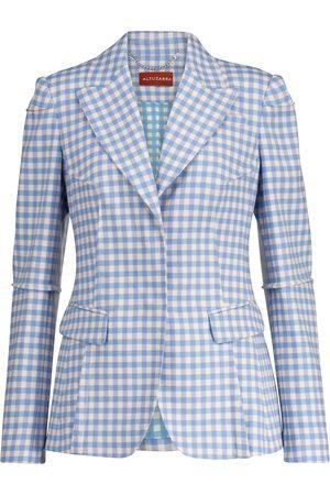 Altuzarra Naiset Bleiserit - Beatrix gingham stretch-blend blazer