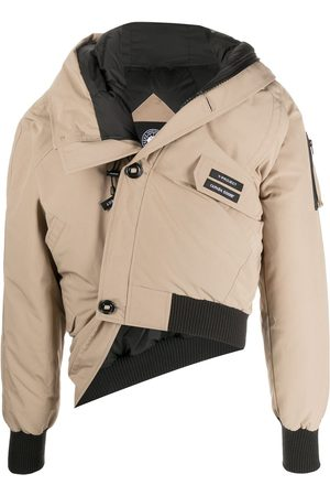 Y / PROJECT Naiset Untuvatakit - Off-centre buttoned up down jacket