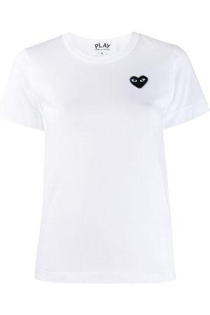 Comme des Garçons Heart-embroidered T-shirt