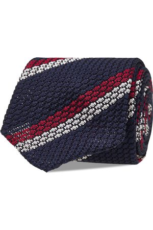 AN IVY Miehet Solmiot - Blue White Red Grenadine Tie Solmio Kravatti