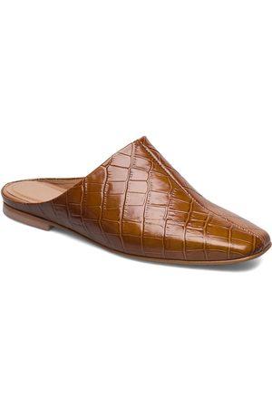 Flattered Noa Cognac Croco Leather Sandaletit Pistokkaat