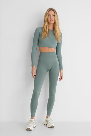 MANGO Leggingsit - Blue