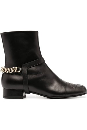 Gucci Naiset Nilkkurit - Chain-trim leather ankle boots