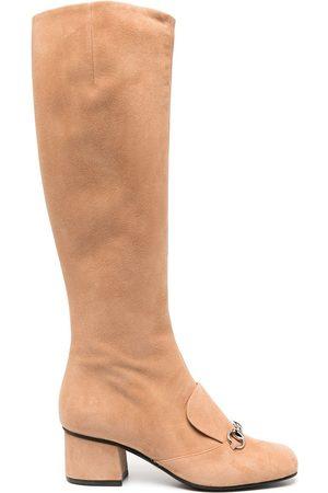 Gucci Horsebit-detail knee-length boots