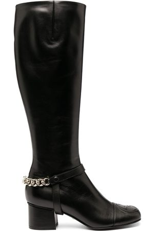 Gucci Chain-detail knee-length boots
