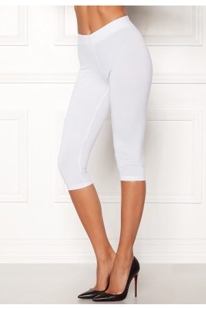 Happy Holly Naiset Leggingsit - Sofia capri leggings White 44/46
