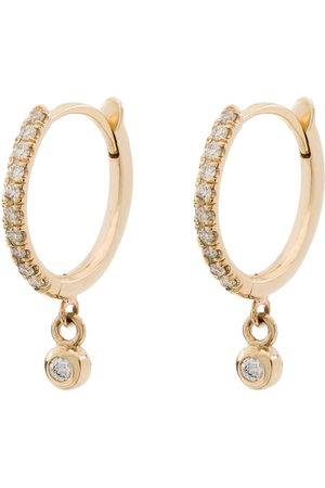 Zoe Chicco Naiset Korvarenkaat - 14kt yellow diamond drop hoops