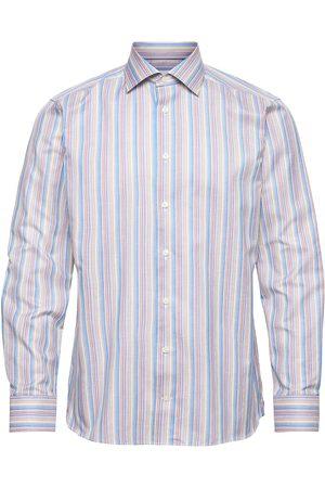 Eton Miehet Bisnes - Slim Fit Pink/Red Textured Twill Shirt Paita Bisnes Sininen