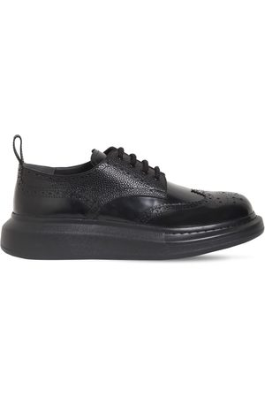 Alexander McQueen Leather Platform Lace-up Shoes