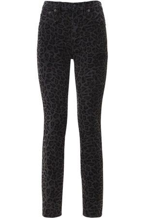 R13 Naiset Korkeavyötäröiset - High Waist Leopard Skinny Jeans