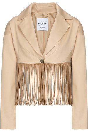 Alaïa Edition 1988 fringed cotton blazer