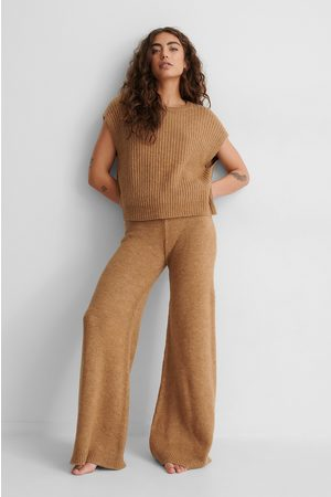 NA-KD Wide Knitted Trousers