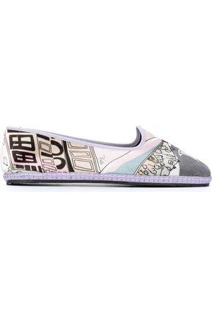 Emilio Pucci Printed round toe slippers