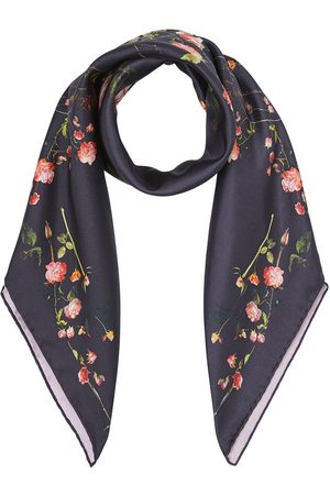 Burberry Rose-print silk scarf
