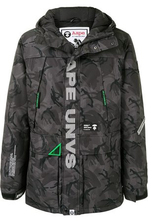 AAPE BY *A BATHING APE® Miehet Parkatakit - Camouflage hooded padded parka coat
