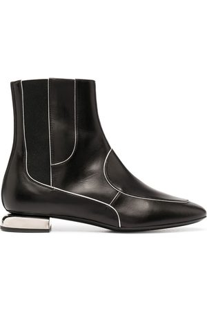 Pierre Hardy Contrasting-trim leather ankle boots