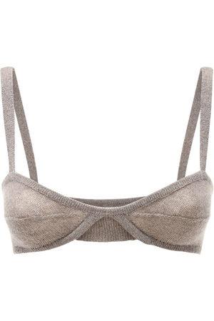 Khaite Eda Cashmere Knit Bralette
