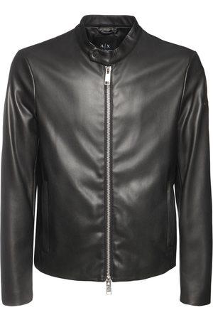 ARMANI EXCHANGE Miehet Talvitakit - Faux Leather Biker Jacket