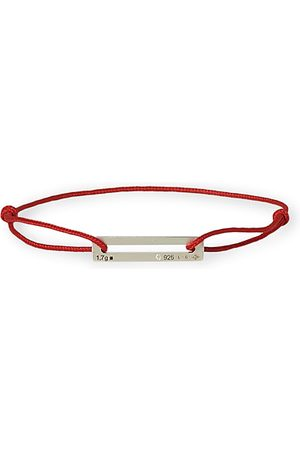 Le Gramme Cord Bracelet Le 17/10 Red/Sterling Silver