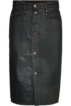 G-Star Naiset Kynähameet - Noxer Navy Pencil Button Skirt Polvipituinen Hame