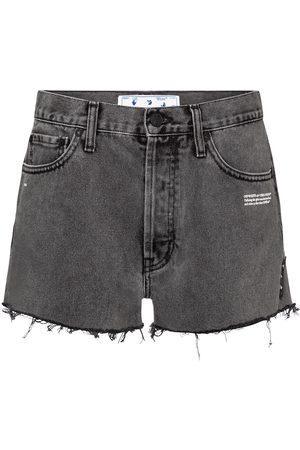 OFF-WHITE Naiset Farkkushortsit - High-rise denim shorts
