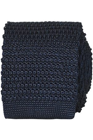 Amanda Christensen Miehet Solmiot - Knitted Silk Tie 6 cm Navy