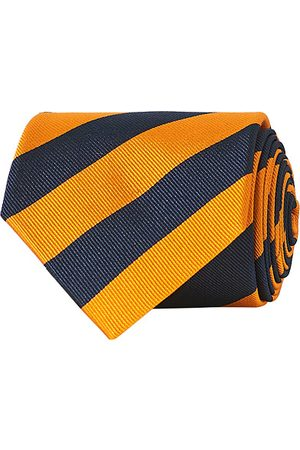 Amanda Christensen Miehet Solmiot - Regemental Stripe Classic Tie 8 cm Orange/Navy