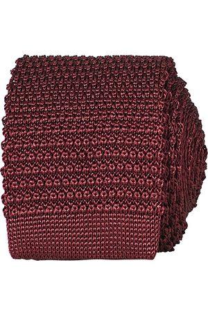 Amanda Christensen Miehet Solmiot - Knitted Silk Tie 6 cm Wine Red